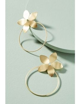 Hepatica Hooped Drop Earrings by Anthropologie