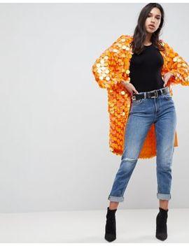 Asos Bright Sequin Kimono by Asos Design