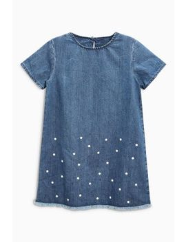 Denim Pearl Dress (3 16yrs) by Next