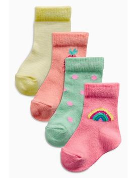 Multi Bright Socks Four Pack (Younger) by Next