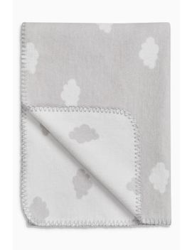 Grey/White Cloud Blanket (Newborn) by Next