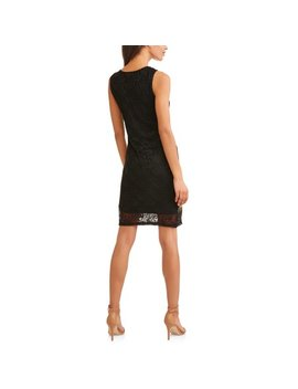 Allison Brittney Women's Asymmetrical Neck Embroidered Dress by Allison Brittney