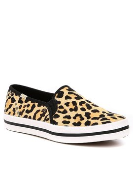 Keds X Kate Spade New York Double Decker Leopard Printed Calf Hair Pony Sneakers by Kate Spade New York