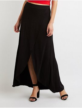 Ruffle Wrap Maxi Skirt by Charlotte Russe