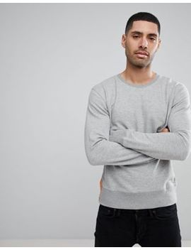 Nudie Jeans Co Evert Light Sweatshirt Grey Melange by Nudie