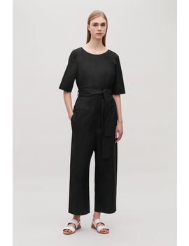 Short Sleeve Poplin Jumpsuit by Cos