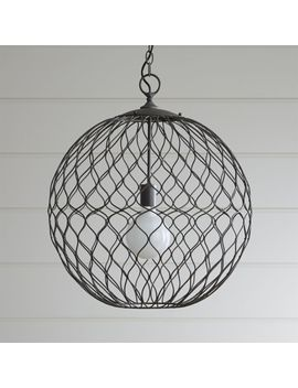 "Hoyne 21.5"" Iron Pendant by Crate&Barrel"