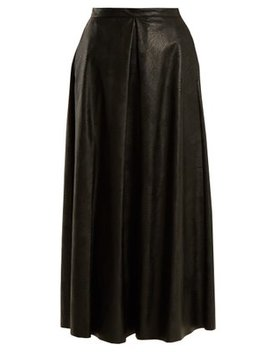 pleated-faux-leather-skirt by mm6-maison-margiela