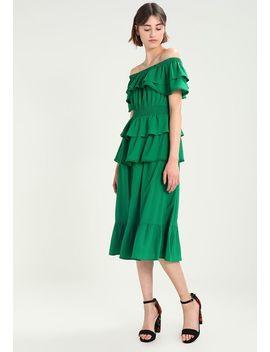 Bardot Tiered Midi Dress   Korte Jurk by Lost Ink