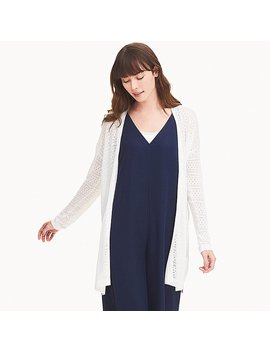 Women Linen Blend Lacy Cardigan by Uniqlo