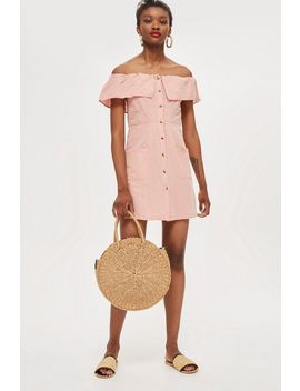 Tall Linen Mini Bardot Dress by Topshop