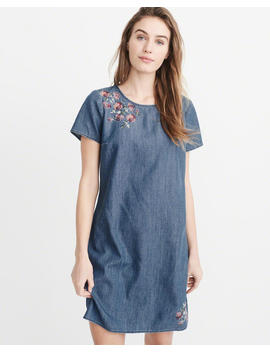 Embroidered Chambray Dress by Abercrombie & Fitch