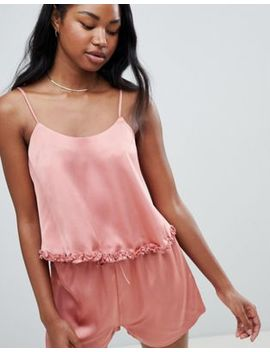 Missguided Satin Cami Top And Shorts Pyjama Set by Missguided