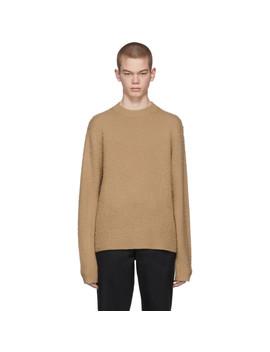 Beige Peele Crewneck Sweater by Acne Studios