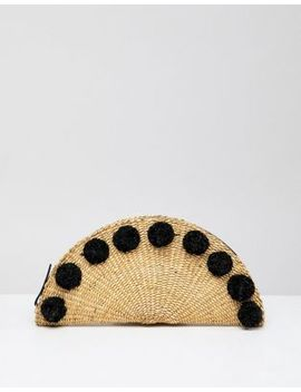 Whistles Taco Pom Pom Mini Clutch Bag by Whistles