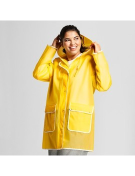 Hunter For Target Women's Plus Size Rain Coat   Yellow by Hunter For Target