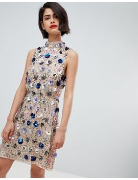 River Island Floral Embellished Mini Dress by River Island
