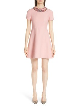 Embellished Collar A Line Dress by Valentino