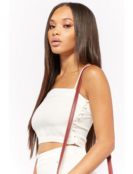 Linen Blend Crop Cami by Forever 21