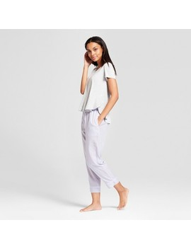 Women's Total Comfort T Shirt And Tencel Crop Pants 2pc Pajama Set   Gilligan & O'malley™ Light Heather Gray by Gilligan & O'malley™