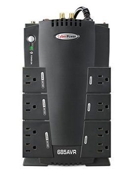 Cyber Power Cp685 Avrg Avr Ups System, 685 Va/390 W, 8 Outlets, Compact by Cyber Power