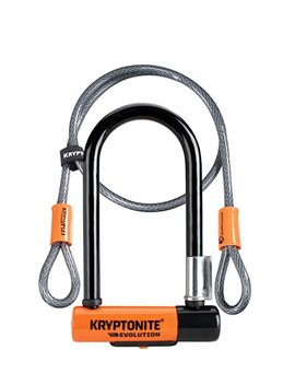 Kryptonite 2079 New U Evolution Mini 7 Heavy Duty Bicycle U Lock W/4' Krypto Flex Double Loop Bike Cable by Kryptonite