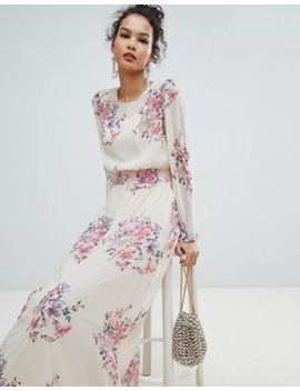 Miss Selfridge High Neck Floral Mesh Maxi Dress by Miss Selfridge