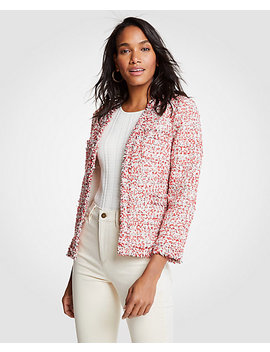 Petite Textured Tweed Cardigan Jacket by Ann Taylor