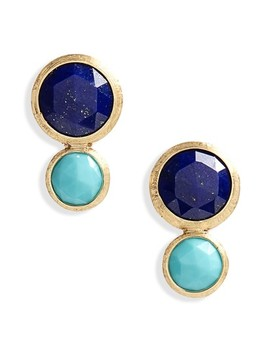 Jaipur Lapis & Turquoise Stud Earrings by Marco Bicego