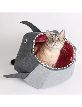 The Cat Ball Great White Shark Cat Bed Cat Bed, A Designer Pet Bed Made In The Usa by The Cat Ball