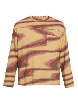 Aztec Print Long Sleeved Cotton T Shirt by Missoni