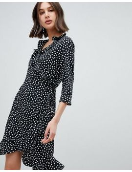Vero Moda Printed Wrap Dress by Vero Moda