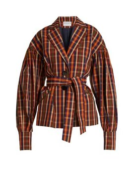 Francois Toybox Single Breasted Checked Jacket by Osman