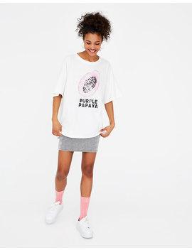 Basic Short Sleeve Papaya T Shirt by Pull & Bear