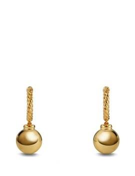 'solari' Hoop Earrings In 18 K Gold by David Yurman