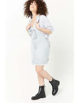 Plus Size Denim Overall Dress by F21 Contemporary