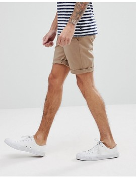 Asos 2 Pack Slim Chino Shorts In Stone & Navy Save by Asos