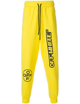 Logo Tracksuit Bottomshome Men Clothing Track Pants by Off White