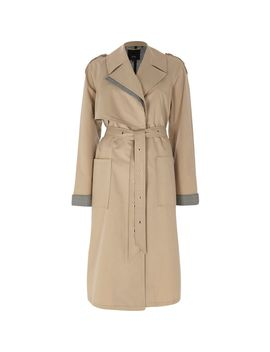 Beige Check Insert Longline Trench Coat by River Island