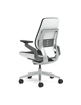 Steelcase Gesture Office Chair   Camel Steelcase Leather, Low Seat Height, Shell Back, Light On Light Frame, Polished Aluminum Base by Steelcase