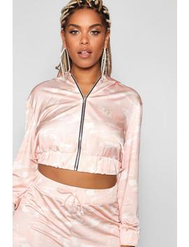 Stefflon Don Hooded Camo Jacket by Boohoo