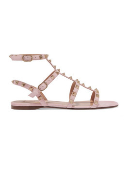 Valentino Garavani The Rockstud Suede Sandals by Valentino
