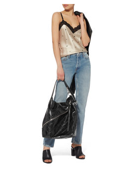 Asymmetrical Zip Embossed Hobo Bag by Proenza Schouler