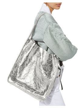 Metallic Leather Extra Large Tote by Proenza Schouler