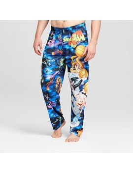 Men's Space Jam Pajama Pants   Black by Target