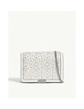 Jade Medium Floral Leather Clutch by Michael Michael Kors