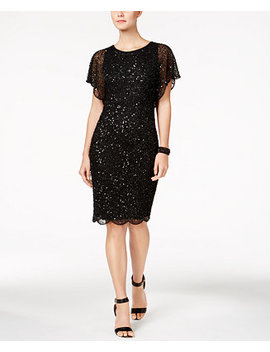 Beaded Sequined Dress by Adrianna Papell