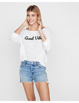 Good Vibes Dolman Pullover Sweater by Express