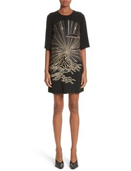 Volcano Embroidered Stretch Cady T Shirt Dress by Stella Mccartney