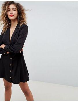 Asos Design   Robe Courte Cache Cœur Avec Boutons by Asos Design